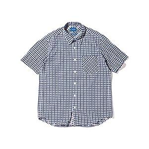 (ビームス)BEAMS/半袖シャツ ギンガムチェック ショートスリーブ シャツ メンズ NAVY L