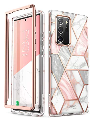 i-Blason Cosmo Series Case Cover Designed for Galaxy Note 20 Ultra 5G (2020 Release), Protective Bumper Marble Design Without Built-in Screen Protector (Marble)