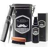 Set de soins pour barbe de grande qualité, comprenant l'huile à barbe Mr. Burton,...