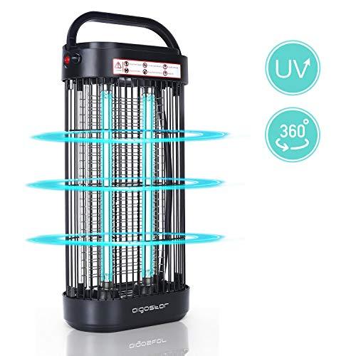 UV Lampe Desinfektion UVC Desinfektionslampe Luftreiniger LED 18W mit Ozon Metall Schalter gegen Virus Bakterien Akaride und verminderte HCHO für Schlafzimmer Büro Hotel Wohnung Schwarz
