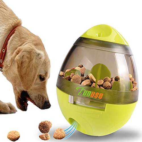 IQ Treat Ball Dog Toy for Dogs & Cats - FUNUSE Increases IQ Mental Stimulation Pets Interactive Food Dispensing Ball - Easy to Clean
