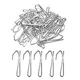 SUNFUA 50 Stück Metall Vorhängehaken Vorhang Haken Pins, Vorhanghaken für Fenstervorhänge Türvorhänge & Duschvorhänge (Silber)