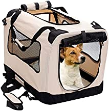 2PET Foldable Dog Crate - Soft, Easy to Fold & Carry Dog Crate for Indoor & Outdoor Use - Comfy Dog Home & Dog Travel Crat...