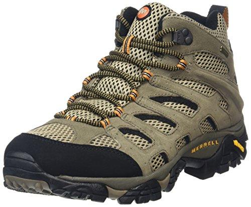 Merrell - Moab Mid Gtx, Scarpe Da Trekking da uomo, Grigio/Marrone, 48 EU
