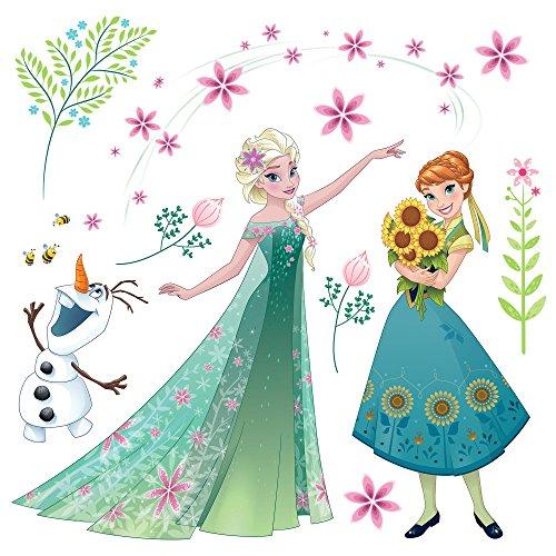 """Komar Window-Sticker \""""Frozen Flower\"""", 1 Stück, Tapete, Disney, Frozen, Kinderzimmer, Mädchen, Bunt, 16407"""