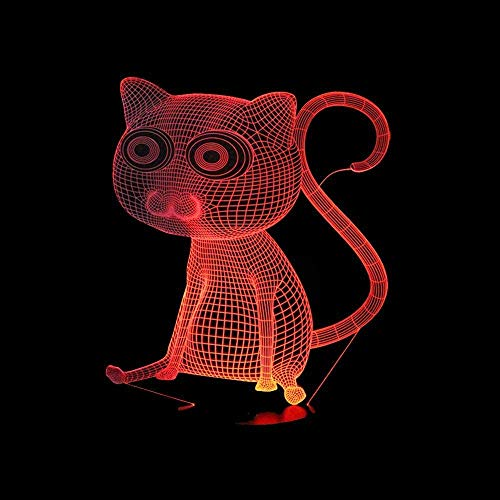 Cat Baloncesto Pingüinos 3D Luz Nocturna Bebé Creativo Usb Lámpara Colorida Led Lámpara De Escritorio Toque E Interruptor Remoto Luces De Colores