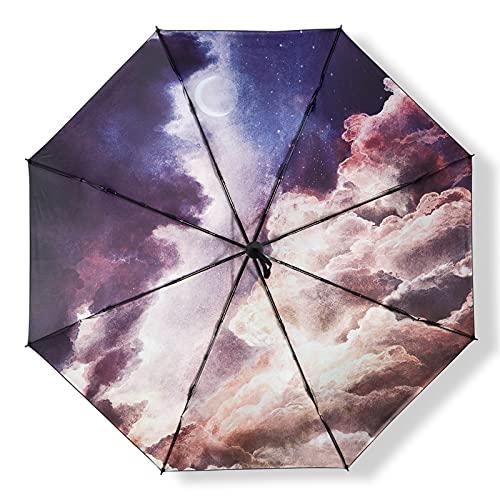 Rongxin Barra de paraguas femenino, paraguas de dos propósitos, parasol, protector solar, estudiante ultravioleta (color : Dilder)