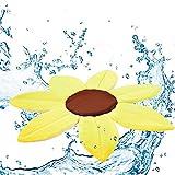 YUEHAPPY® Badeblume - Baden Sie Ihr Kind Im Waschbecken - 100% Baby Badespaß, Gepolsterte Liegefläche, Kuschelig & Weich,Gelb