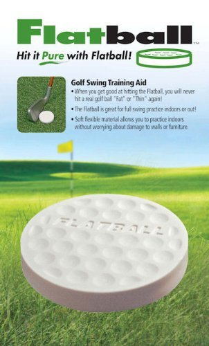 Flat Ball Golf Swing Training Aid Practice Anywhere Sport, Fitness