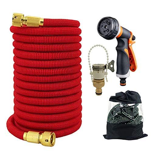 Manguera jardín manguera riego telescópica para jardín manguera jardín flexible mágica la UE artefacto riego pistola agua lavado coches alta presión Red hose Set 25ft