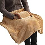 USB Heating Blanket Throw Electric Shawl Battery Operated, Heated Cape Heating Soft Flannel Lap Blanket, Blanket Heated Shawl USB Cordless Wrap for Women - Washable Yellow GJXJY