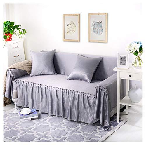 GELing Home Funda de sofá de Doble Cara, Cubre para Silla en Tejido Elástico Estampado, Funda de sofá Engrosada Protector de Sofá o Sillón ,Gris,Dos Plazas