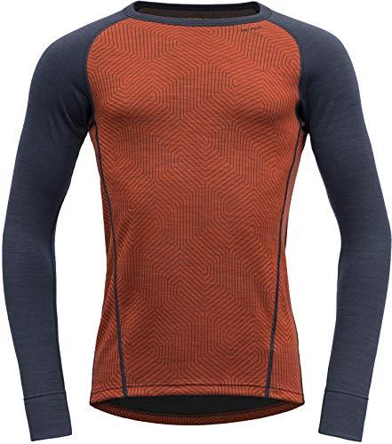 Devold Duo Active Camisa Hombre ladrillo/tinta Talla XXL 2020 Ropa interior