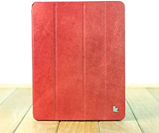 Jisoncase Vintage Genuine Leather Smart Cover Case for iPad 2, 3 & 4, JS-ID-006A-Red
