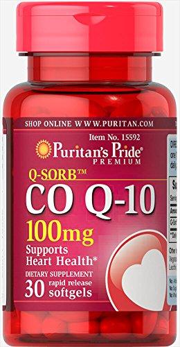 Puritan's Pride, Co Q-10 100 mg 30 Softgels COQ-10
