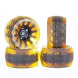 Slick Revolution 120mm Foamies Electric Skateboard Wheels   Patent Pending Foam Core Technology   78A Translucent Urethane (Atomic Orange)