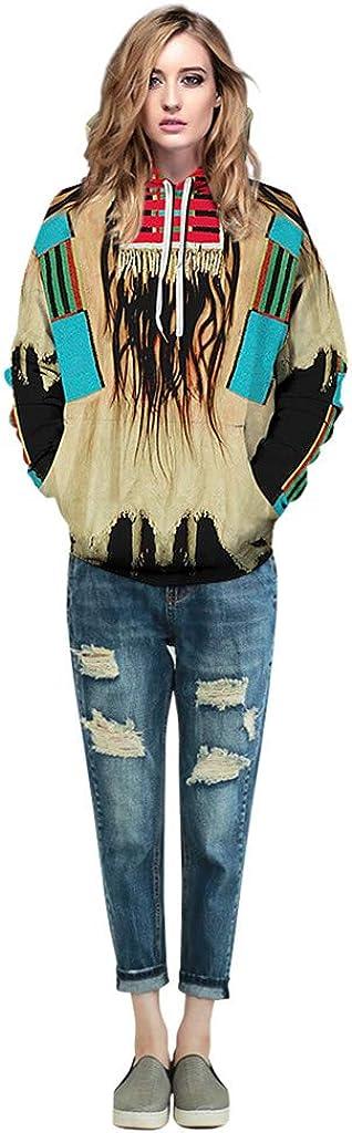 Unisex Women Men Novelty Realistic 3D Printed Hoodie Skull Casual Sweatshirt Pullover Top