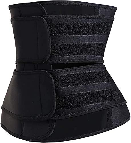 JOK Entrenador de Cintura de Sudor de Neopreno, Utilizado para la Cintura de Ejercicio Postparto de Yoga en Forma de Ropa para Fortalecer la Cintura, Black - Medium