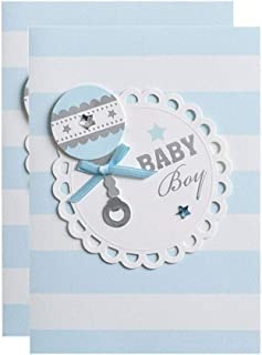 Baby Shower Invitations Boy with Envelopes Cute Printed Invite Cards 25 Pack