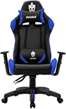 Cadeira Gamer Evolut Eg904 Lite Preta E Azul