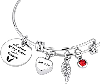 Dletay Cremation Bracelet for Ashes Stainless Steel Urn Bracelet with Heart Charm Ashes Holder Memorial Urn Bangle for Ashes-I Still Need You Close to Me