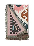 Sonemone Throw Blanket Year Round Aztec Bohemian Home Cozy Couch Sofa Bed Beach Travel 50x60 Multicolor
