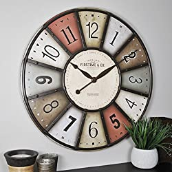 FirsTime & Co. Color Motif Wall Clock, 27, Multicolor