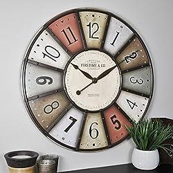 FirsTime & Co. Color Motif Wall Clock, 27, Multicolor