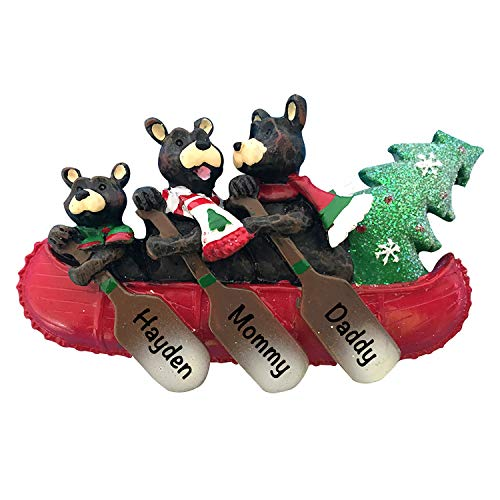 Personalized Christmas Ornaments 2021 – Personalized Bear Canoe...