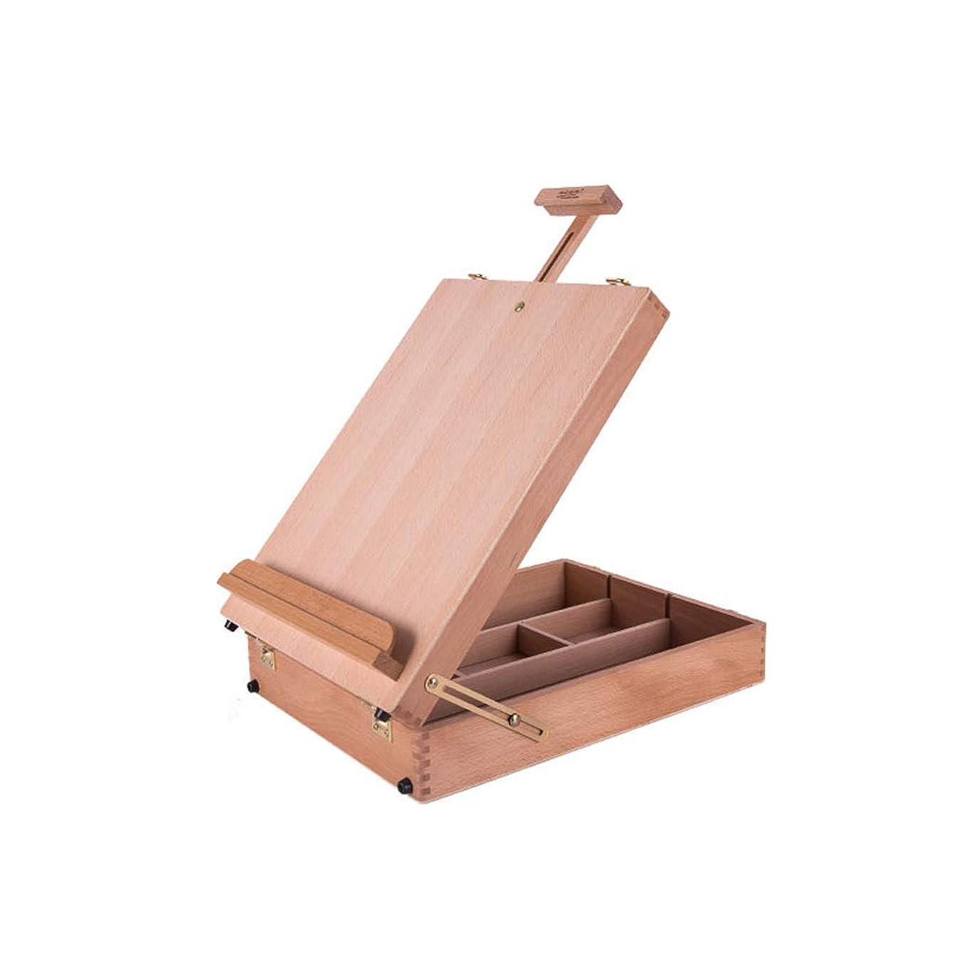 上記の頭と肩徴収共和党携帯用スケッチの油絵の絵箱木製のデスクトップの油絵フレーム、持ち運びが簡単で持ち運びが簡単、成人学生が使用できます GHMOZ (Size : Big)