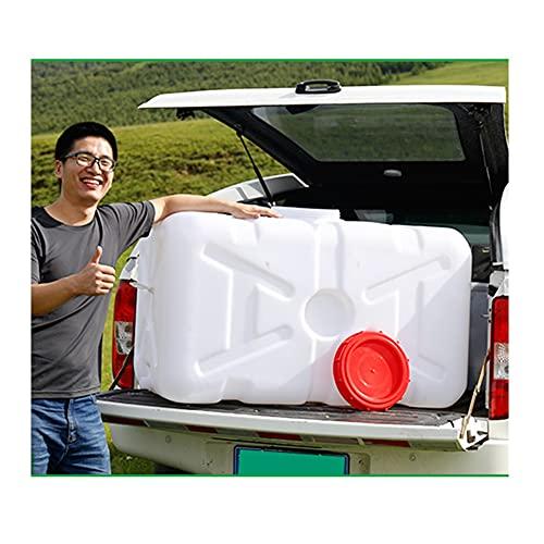 YJFENG Portátil Tanque De Agua del Portador De Coche, Casa Gran Capacidad Envase De Agua Potable, Exterior Cámping/Riego Agrícola (Color : White, Size : 70L/70x33x33cm)