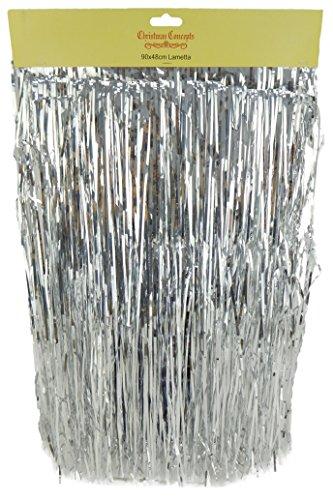 Glänzender Lametta - Christbaumschmuck (Silber)