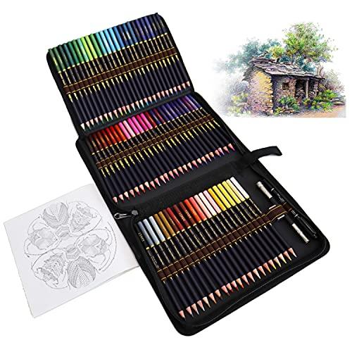 Lapices Colores Profesionales para Adultos y Niños, Juego de 72 Lapices con Base de Óleo Para pintar Mandalas de Adultos y Lapices de Dibujo, Libros de Colorear o útiles escolares