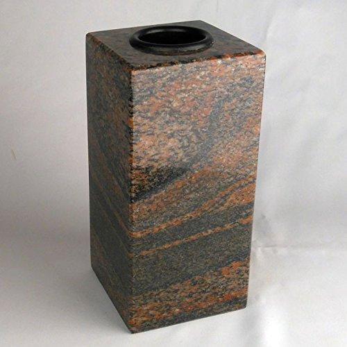 designgrab Cube-medium Designer Grabvase aus Granit Gneis Halmstad/Barap