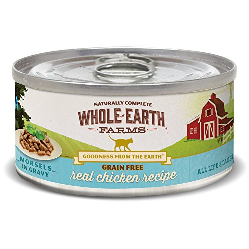 Whole Earth Farms Grain Free Wet Cat Food Real Chicken (24) 5oz cans