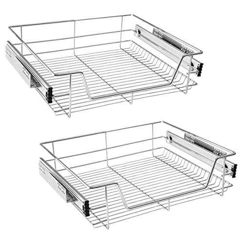 HENGMEI Cajón armario cajón extraíble cajón de cocina Estante Estantería de cocina cesta auszug Dormitorio cajón, 2x60 cm