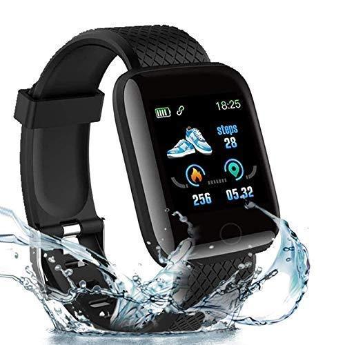 Rhobos [ONE Day Festival Sale] D116 Intelligence Bluetooth Monitor/Smart Bracelet/Health Bracelet/Smart Watch for Men/Activity Tracker/Bracelet Watch for Men/Smart Fitness Band/BP Monitor - Black