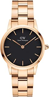 Daniel Wellington Japanese Quartz Watch with Stainless Steel Strap, Rose Gold, 14 (Model: DW00100214)