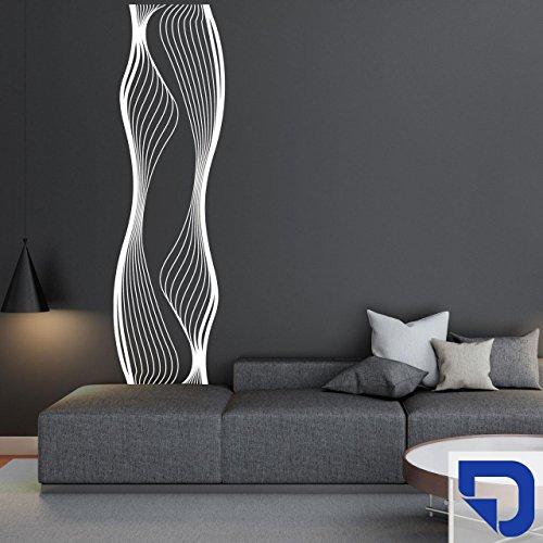 DESIGNSCAPE® Wandtattoo Banner Liquid   Originelles Wandtattoo Streifen 35 x 120 cm (Breite x Höhe) enzian DW807378-S-F29