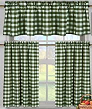Best green gingham curtains Reviews