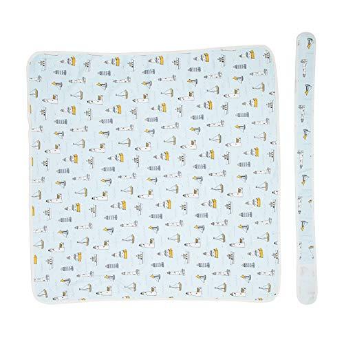 Artículos de la ducha infantil de la toalla del swaddle del bebé multifuncional para los niños(ocean)