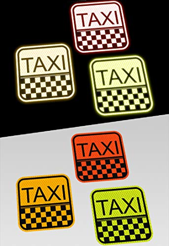 3M Funny Bumper Stickers Diamond Grade Decals for Car Reflective Safety | Taxi (Orange)