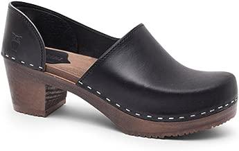 Sandgrens Swedish High Heel Wooden Clogs for Women   Brett