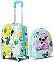 GYMAX Kids Carry On Luggage Set, 12