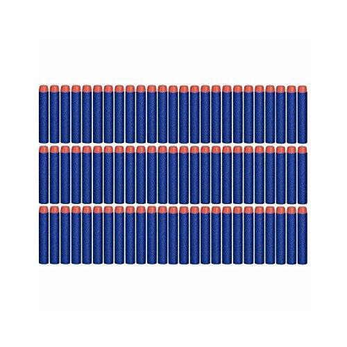 queenshiny 7.2cm Blue Foam 100 Stück Dart für Nerf N-Streik Elite Series Blasters Spielzeugpistole