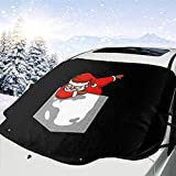 Auto Windschutzscheibe Schneedecke Pocket T-Shirt Abtupfen Santa Weihnachten Frost Guard Protector