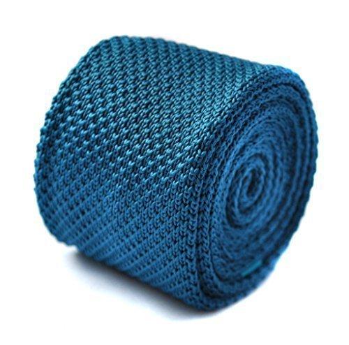 Cravate tricotée Frédéric Thomas turquoise turquoise