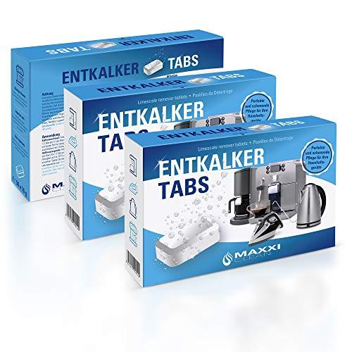 Maxxi Clean 3x50 Entkalker-Tabs, Kalklöser und Kalkreiniger als Allzweckreiniger zur Reinigung für Kaffeevollautomaten, Senseo, Tassimo, Vollautomaten, Wasserkocher und Waschmaschinen