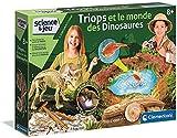 Clementoni-52566 52566 – Triops y el Mundo de los Dinosaurios – Juego científico – Versión Francesa – 8 años en adelante – Fabricado en Italia, Multicolor