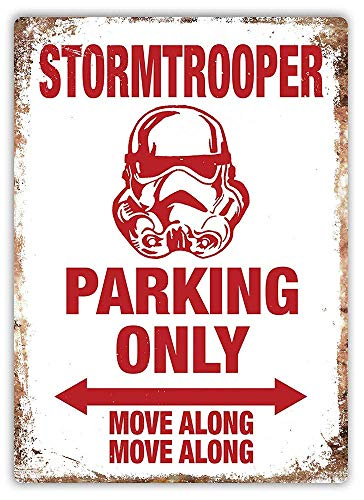 Lorenzo Stormtrooper Parking Only Vintage Metall Eisen Malerei Plaque Poster Warnschild Wohnzimmer Cafe Bar Bier Club Party Weihnachten Hochzeit Dekoration
